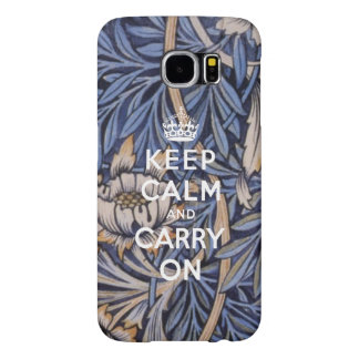 Keep Calm and Carry On with Floral Samsung Galaxy S6 Case
