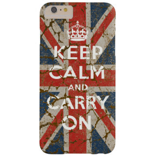 Keep Calm and Carry On with UK  Flag Barely There iPhone 6 Plus Case