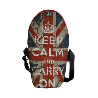 Keep Calm and Carry On with UK  Flag Courier Bag