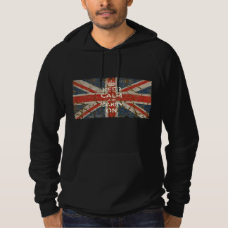 Keep Calm and Carry On with UK  Flag Hoody