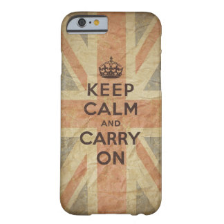 Keep Calm and Carry On with UK Flag iPhone 6 Case