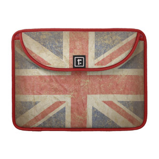 Keep Calm and Carry On with UK Flag. MacBook Pro Sleeves