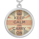 Keep Calm and Carry On with UK  Flag Jewelry