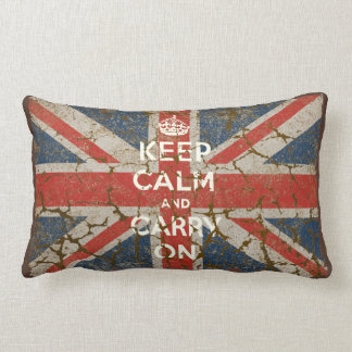 Keep Calm and Carry On with UK  Flag Pillows