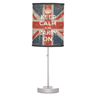 Keep Calm and Carry On with UK  Flag Table Lamp