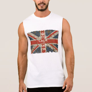 Keep Calm and Carry On with UK  Flag Tshirts
