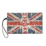 Keep Calm and Carry On with UK  Flag Wristlet Purse