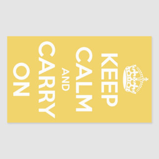 Keep Calm and Carry On Yellow Stickers