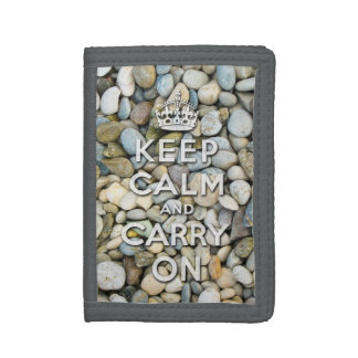 keep calm and carry on - Zen attitude Trifold Wallet