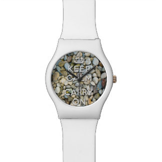 keep calm and carry on - Zen attitude Wrist Watches