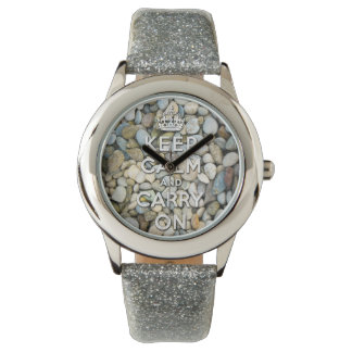 keep calm and carry on - Zen attitude Wristwatches