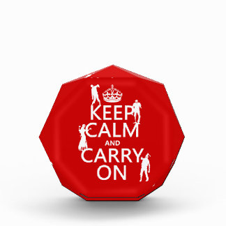 Keep Calm and Carry On (zombies) (any color) Acrylic Award