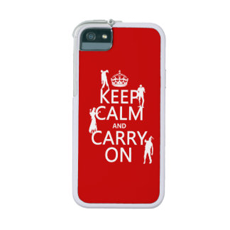 Keep Calm and Carry On (zombies) (any color) Case For iPhone 5