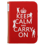 Keep Calm and Carry On (zombies) (any color) Kindle Keyboard Cases