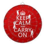 Keep Calm and Carry On (zombies) (any color) Dart Boards