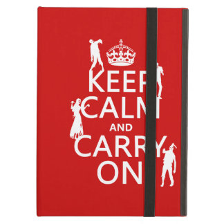 Keep Calm and Carry On (zombies) (any color) iPad Air Cover