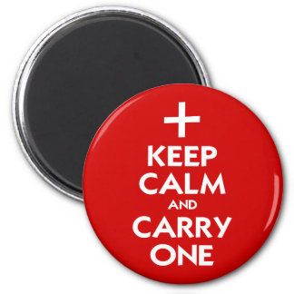Keep Calm and Carry One 2 Inch Round Magnet