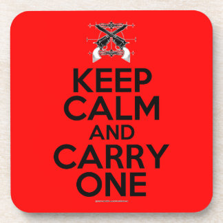 Keep Calm and Carry One Drink Coasters