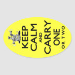 Keep Calm and Carry One Oval Sticker