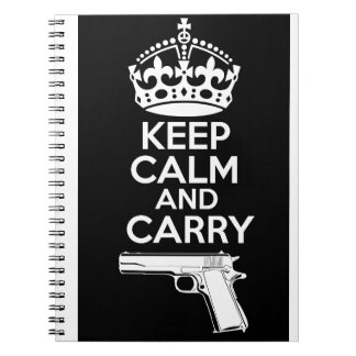 Keep Calm And Carry One Quote Notebook