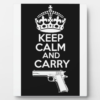 Keep Calm And Carry One Quote Plaque