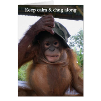 Keep Calm and Carry (or Chug) On Stationery Note Card