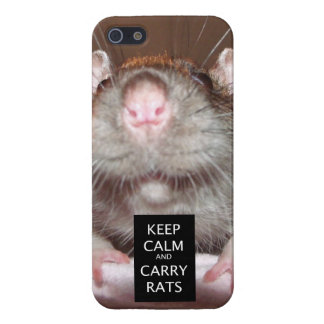 keep calm and carry rats iPhone 5 case