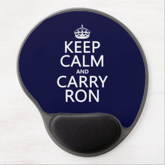 Keep Calm and Carry Ron (any color) Gel Mouse Pad