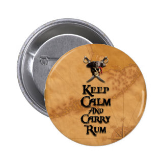 Keep Calm And Carry Rum Buttons