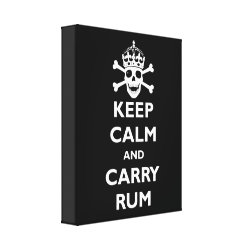Premium Wrapped Canvas with Keep Calm and Carry Rum design