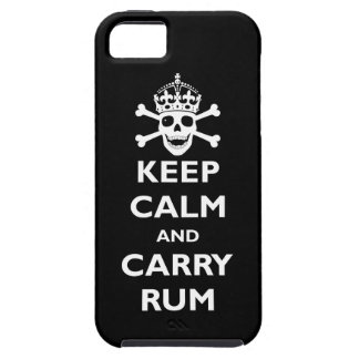 Keep Calm and Carry Rum iPhone 5 Cases