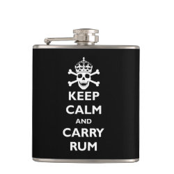 Vinyl Wrapped Flask, 6 oz. with Keep Calm and Carry Rum design