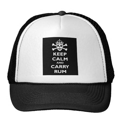 Keep Calm and Carry Rum Mesh Hats