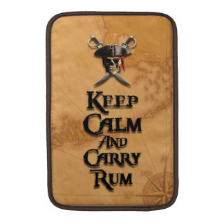 Keep Calm And Carry Rum MacBook Air Sleeves