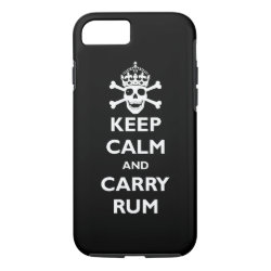 Case-Mate Barely There iPhone 7 Case with Keep Calm and Carry Rum design