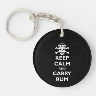 Keep Calm and Carry Rum Keychain