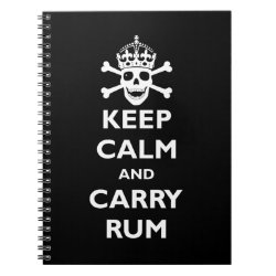 Photo Notebook (6.5' x 8.75', 80 Pages B&W) with Keep Calm and Carry Rum design