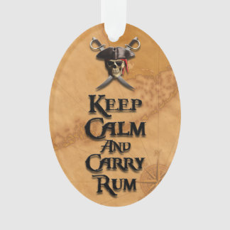Keep Calm And Carry Rum Ornament