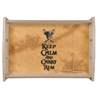 Keep Calm And Carry Rum Serving Platters