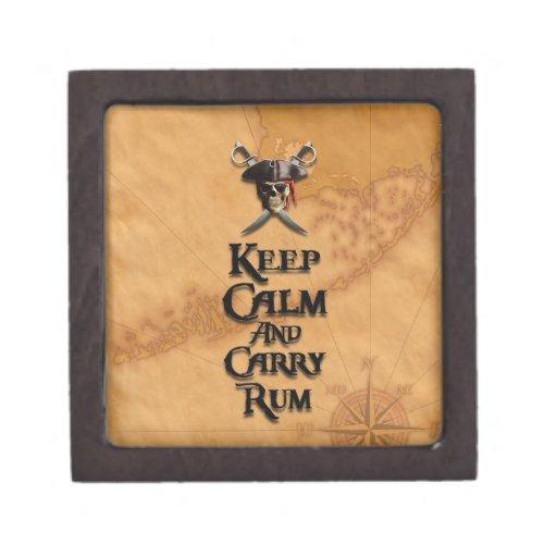 Keep Calm And Carry Rum Premium Keepsake Boxes