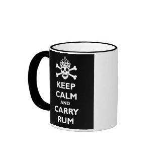 Keep Calm and Carry Rum Ringer Coffee Mug
