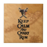 Keep Calm And Carry Rum Small Square Tile
