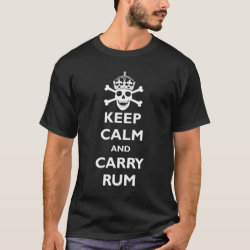 Keep Calm and Carry Rum Men's Basic Dark T-Shirt