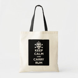 Budget Tote with Keep Calm and Carry Rum design