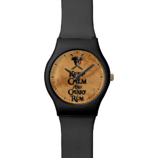 Keep Calm And Carry Rum Wristwatch