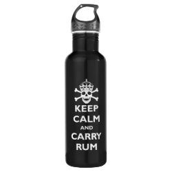 Water Bottle (24 oz) with Keep Calm and Carry Rum design