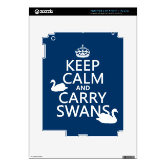 Keep Calm and Carry Swans - all colors iPad 3 Skins