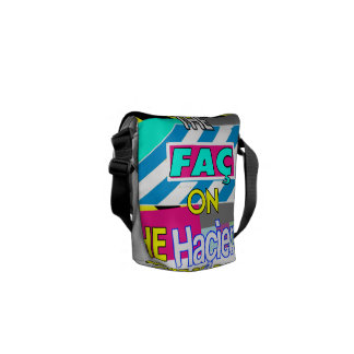 """KEEP CALM AND CARRY THE """"FAC"""" ON (HACIENDA) COURIER BAG"""