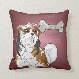 Keep Calm and Carry Treats Dog Pillow