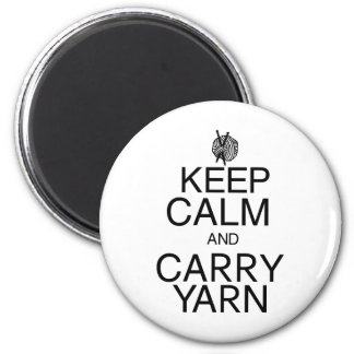 Keep Calm and Carry Yarn 2 Inch Round Magnet